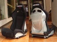 One Lot 2 Pcs Adjustable Series Racing Seats SPS High Style Fiberglass Frame Black Red Blue