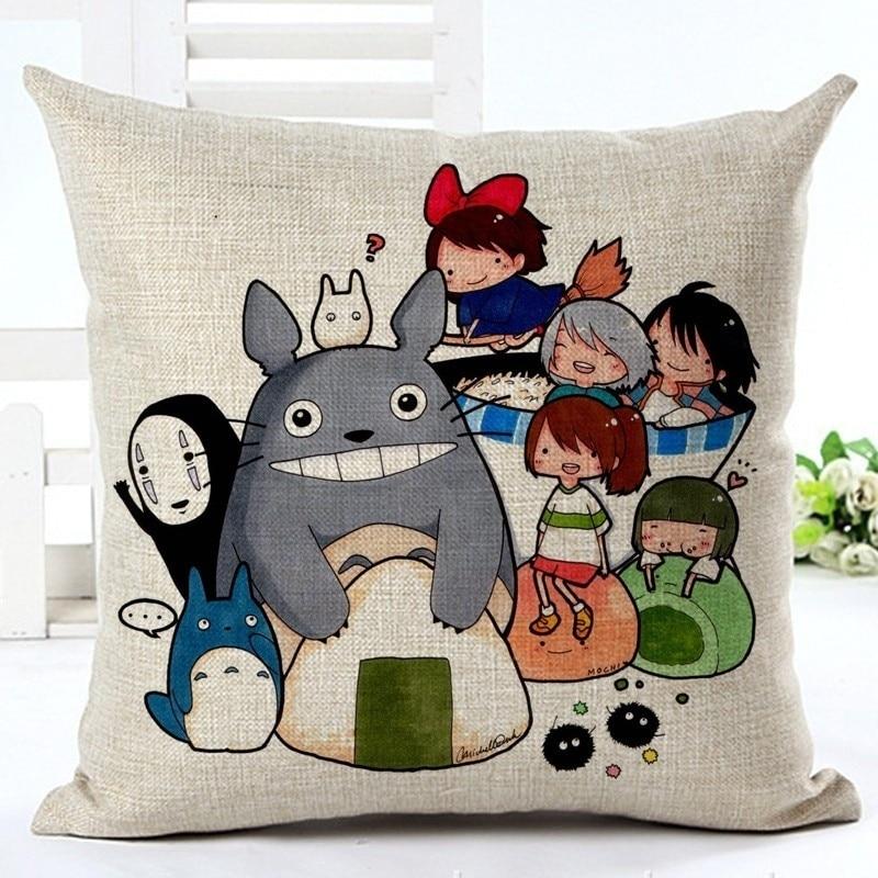 ... 45x45cm Cute Totoro Pillow Cover (8 Design) ...
