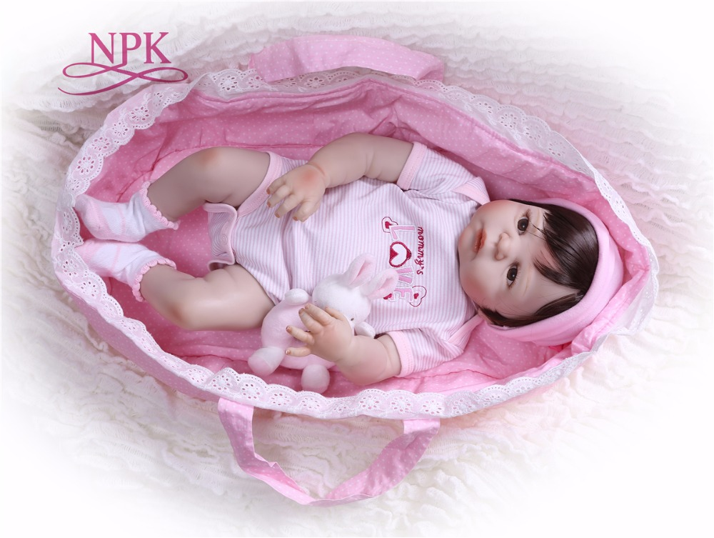 NPK Doll 22inch 57cm Reborn Baby Dolls full Silicone Reborn Bebe Doll Vinyl Toys gifts cute plamates For Girls and boys pinkNPK Doll 22inch 57cm Reborn Baby Dolls full Silicone Reborn Bebe Doll Vinyl Toys gifts cute plamates For Girls and boys pink