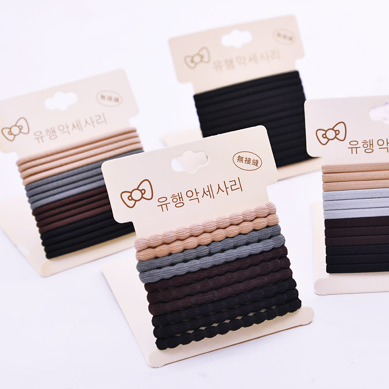1Pack/Set High Quality Cotton Solid Elastic Hair Band Headband For Women Girl Hair Rope Rubber Band Hair Accessories HairTie Gum