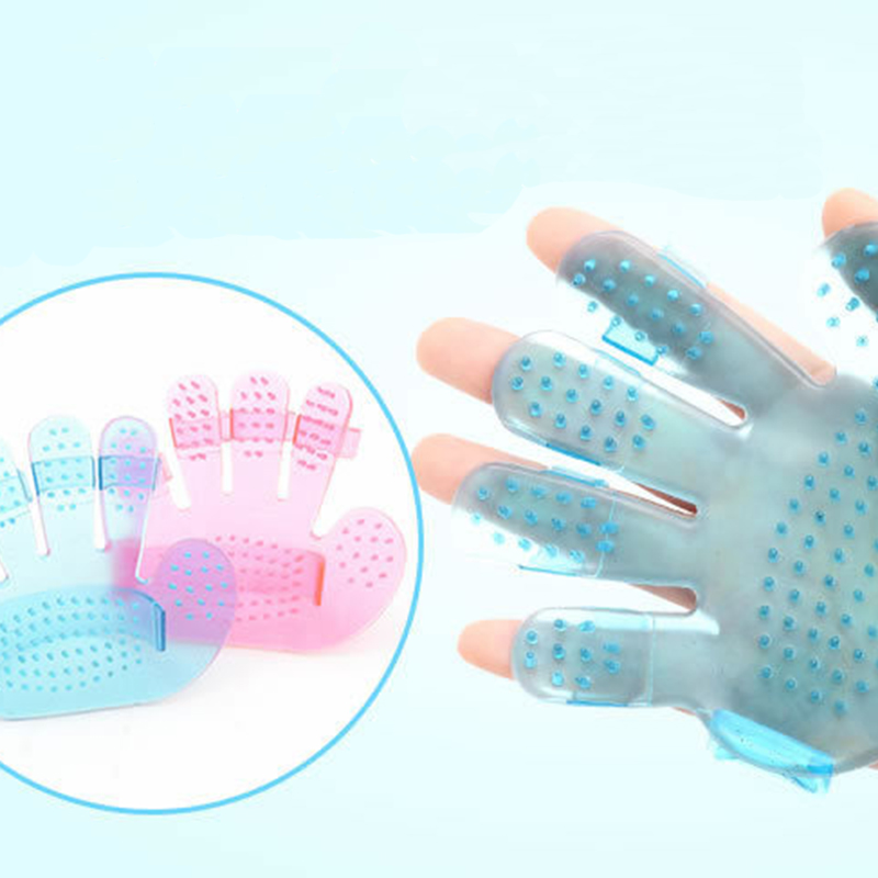KIMHOME PET Dog Cat Grooming Glove Shower Bath Massage Brush Comb Glove Pets Cleaning Brushes For Dog Cat Grooming Supply