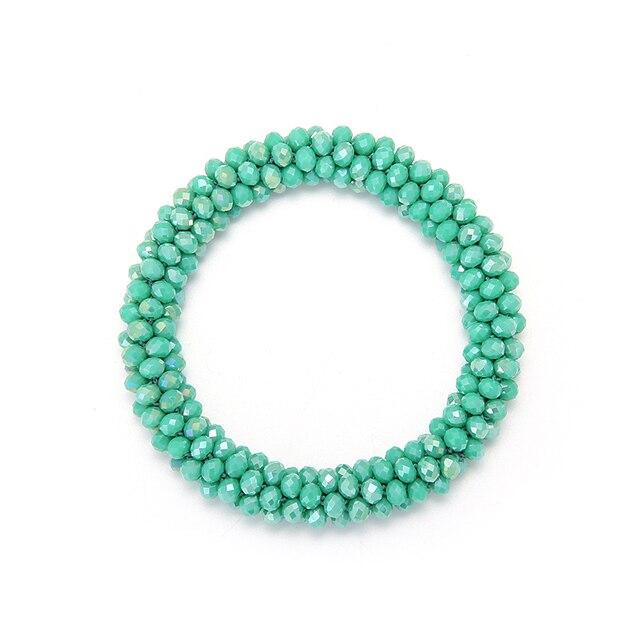 INKDEW 2018 Trendy Beads Strand Bracelets for Women Gift Crystal Elastic Handmade Red Multicolor Bracelets Bangles Jewelry boho