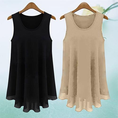 Women's Casual Chiffon Sleeveless Vest   Tank     Tops   Blouse T-Shirt Camisole Shirt