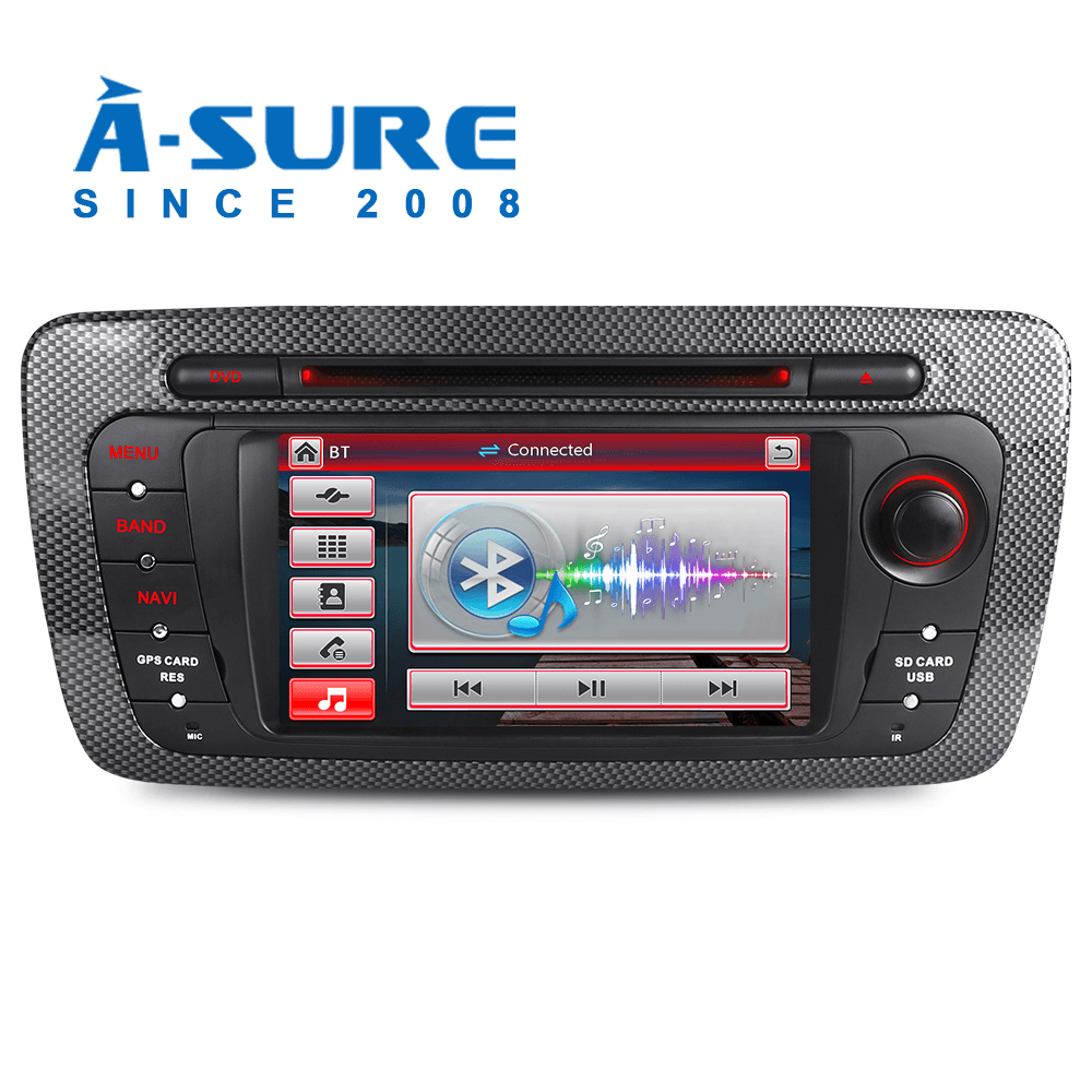 A-sure 2 Din Car DVD Player For Seat Ibiza 2009 2010 2011 2012 2013