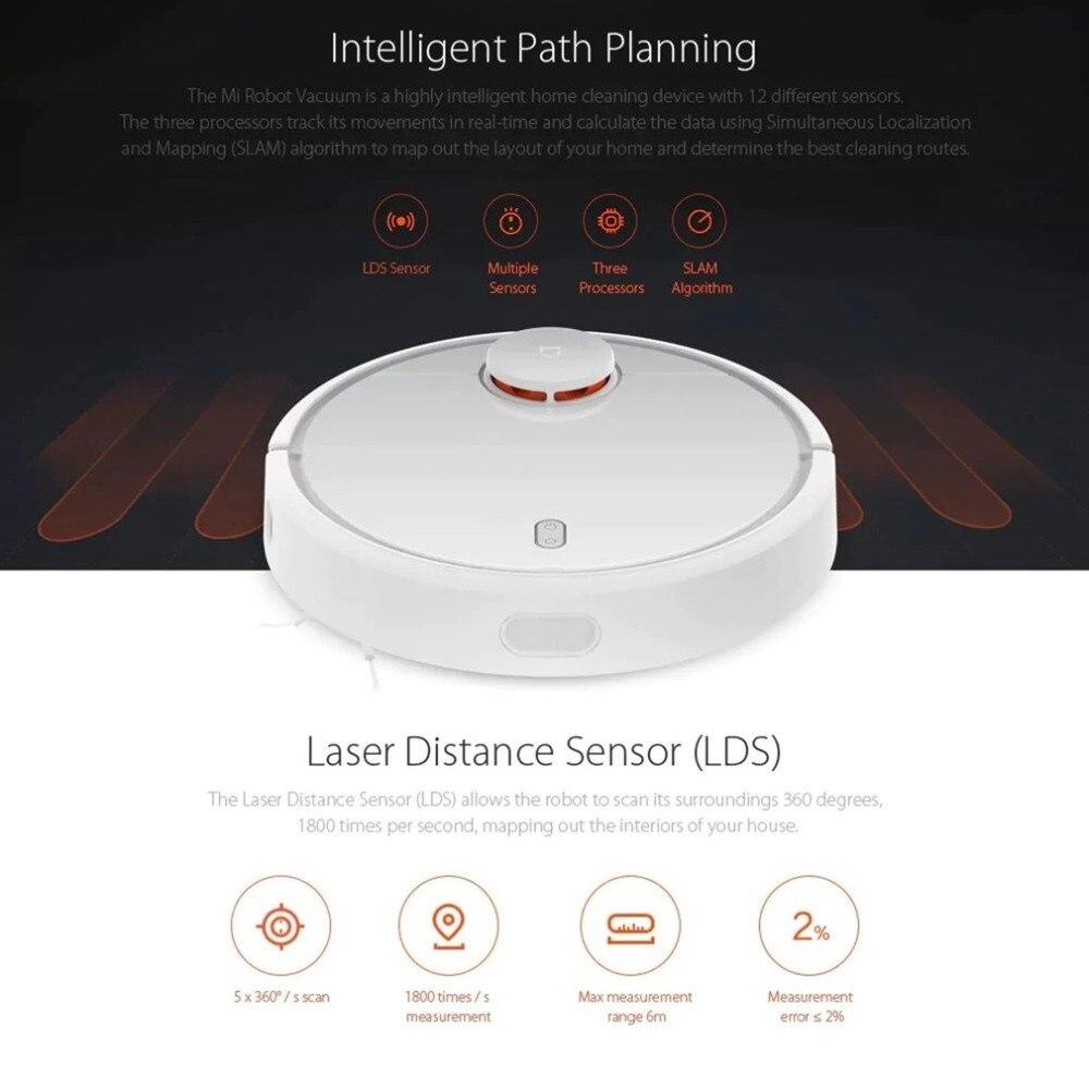 Bianco Rotondo 360 Gradi Potente Costante Altamente Intelligente Sensibile di Precisione Per La Pulizia di Casa Dispositivo di Vacume Cleaner