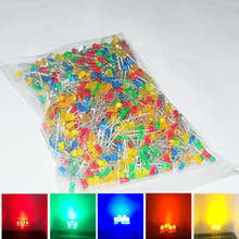 100PCS LED Diodes 3mm White Red Green Blue UV Yellow Lamp Beads Lampada Light Super Bright 3mm Head Round Light Emitting Diode