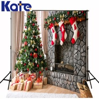 Kate Christmas Photography Backgrounds Christmas Tree Colorful Lantern Backdrop Photography Indoor Candle Backgrounds For Photo