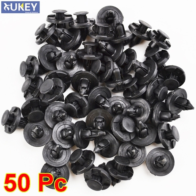 50pcs 8mm For Lexus Subaru Nissan Auto Fasteners Bumper Fender Mud Flap Mudguard Plastic Rivet Fixing Clip Cover Car Styling
