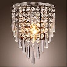 Кристалл стена лампа лёгкие бра освещение хром отделка Guaranteed100 %