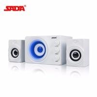 SADA Wireless Bluetooth Speaker Mobile Phone Laptop Desktop Speaker DC 5V Stereo Bass With Blue Atmosphere