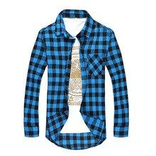 Ruro Size Men Plaid Shirt Camisas Social 2018 Autumn Men's Fashion Plaid Long-sleeved Shirt Male Button Down Casual Check Shirt