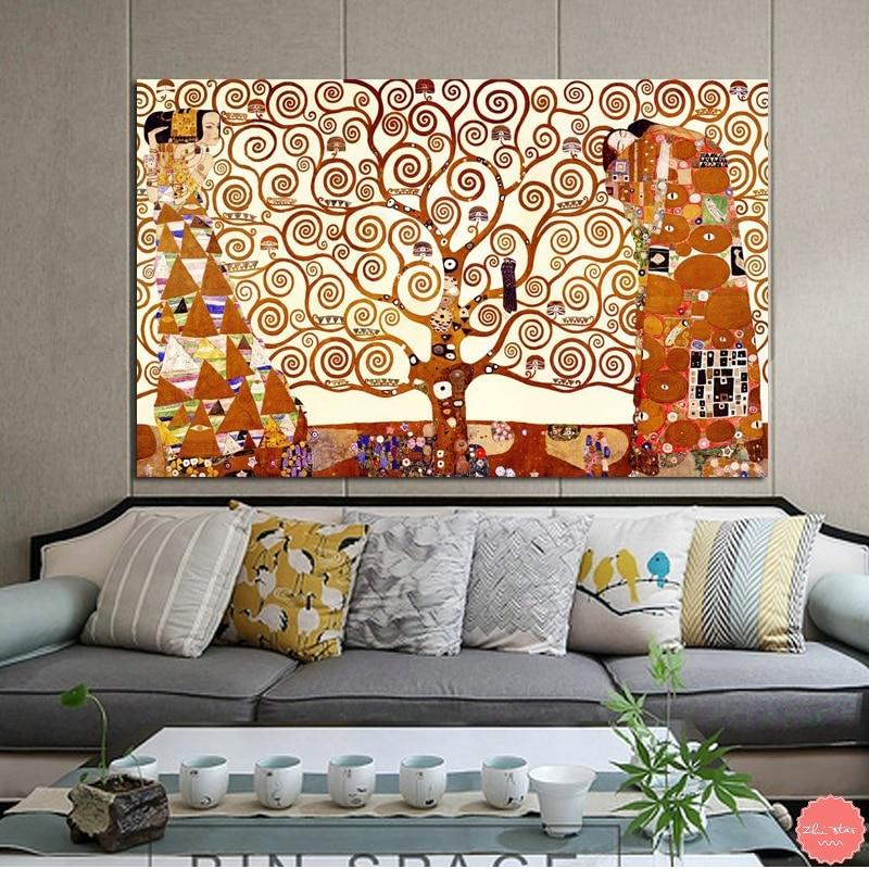 Diamant peinture point de croix l'arbre de vie par Gustav Klimt diamant broderie strass photos mosaïque décoration maison