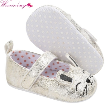 2017 princess shoes Autumn  Baby girl PU Leather Shoes Infant Leisure Outdoor Cat Face Ears Shoes Cute smile lucky meow baby 1