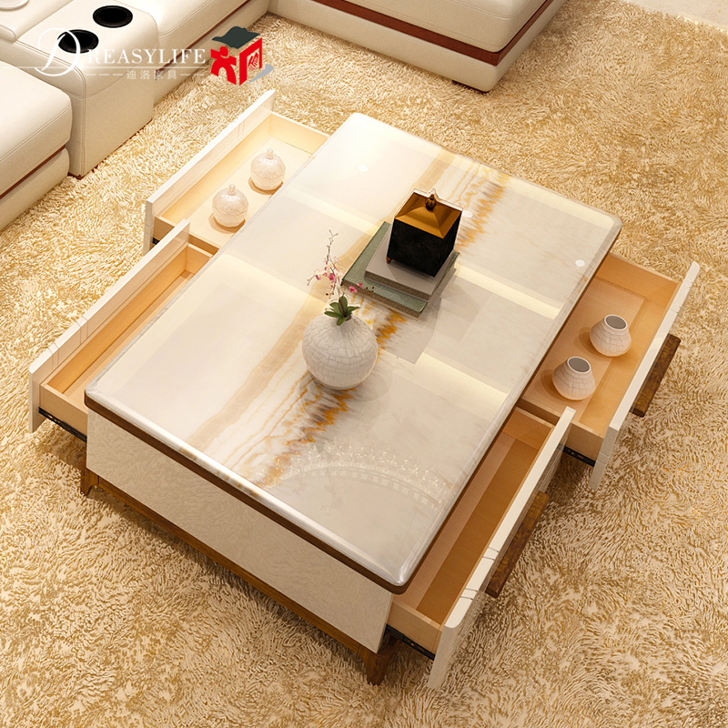 Marble Coffee Table Tea Paint Simple Small Apartment