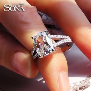 Aliexpresscom Buy TT luxury Wedding Ring 385 carat cushion cut