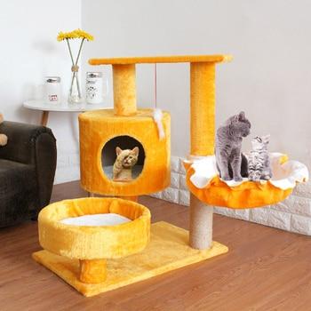 Pet Cat Scratcher Tree Tower Climbing Post Shelf Board Sisal Cat Jumping Platform Play House Furniture Cats Scratching Posts Toy vq30det エキマニ