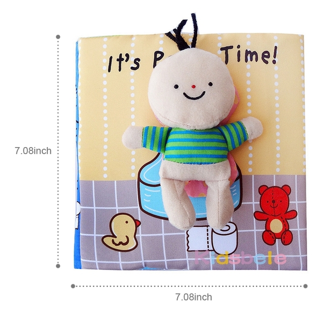 Wholesales Baby Toys Soft Book Educational Infant Toy Potty time Bathtime Kids Newborn Cognitive Toys For