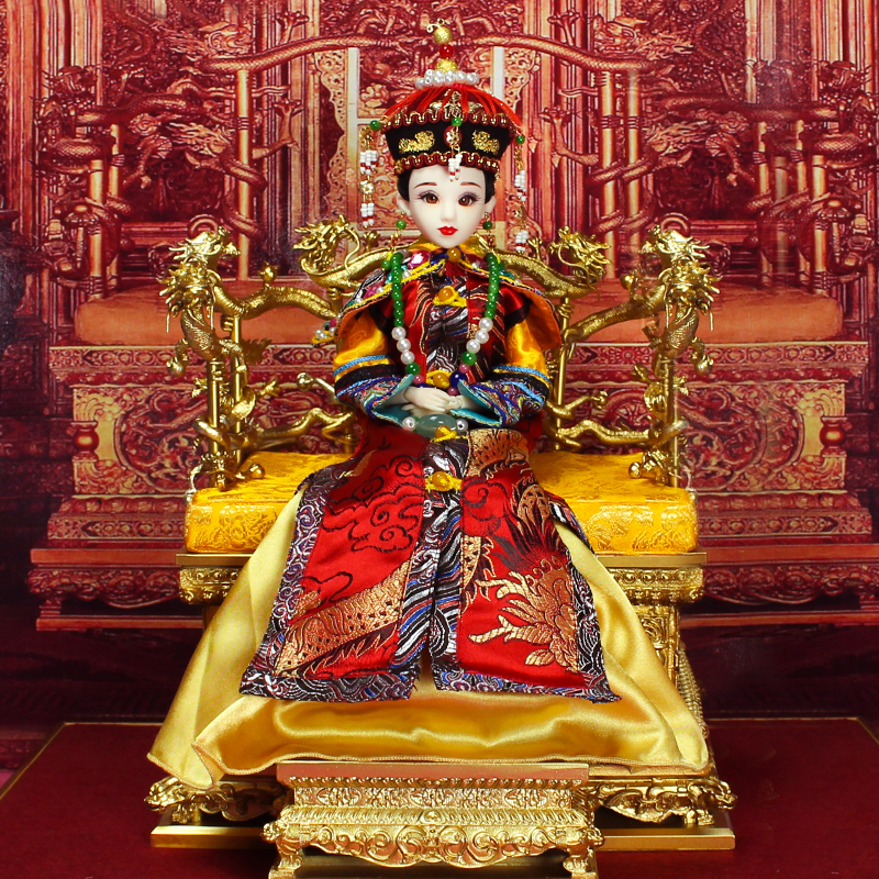 Free shipping cost Chinese ancient myth queen beauty decorative display faerie kurhn dolls collection clothes girl