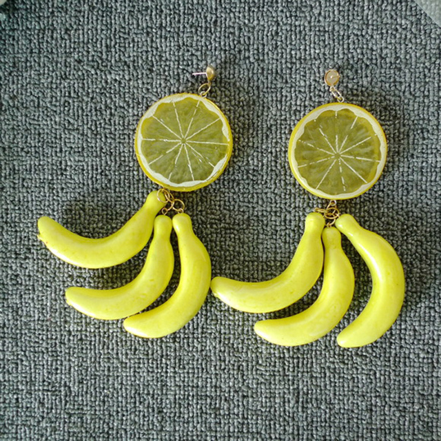 Lemon Banana Earrings