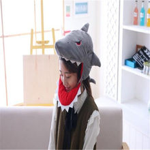 Shark headgear shark hat photo props cosplay toy hat plush toy christmas halloween birthday party dress up(China)