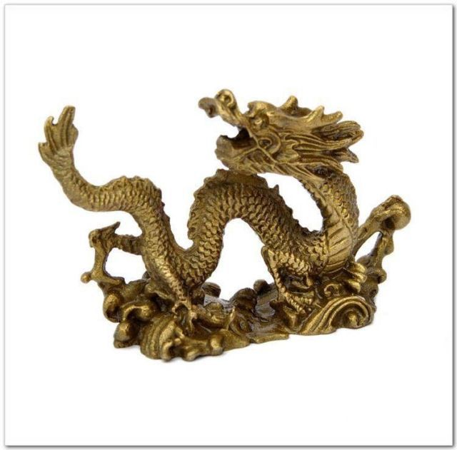 Statue d'ornements de Dragon en laiton de Collection chinoise