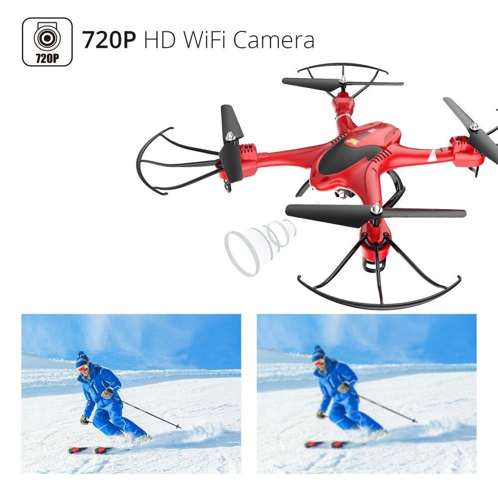 Holy Stone HS200 Red RC Drone con cámara FPV HD Wifi en vivo con - Juguetes con control remoto - foto 5