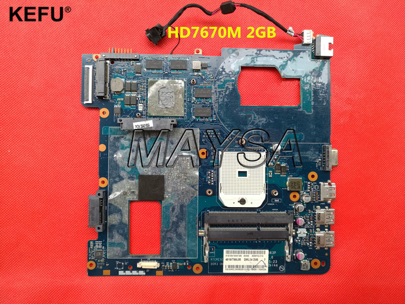 System Board QMLE4 LA-8863P BA59-03567A HD7600 2GB Fit For Samsung NP355 NP355C4C NP355V5C Notebook PC motherboard, Socket SF1 free shipping the laptop motherboard for samsung np355 np355c4c np355v5c qmle4 la 8863p hd7600 1gb socket fs1 ddr3 work perfect