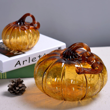 Multicolor glass Crafts Glass pumpkin  Home Decor Ornaments Fruit Figurines Gifts Souvenirs festival party supplies