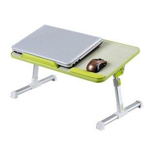 Image 2 - Ayarlanabilir dizüstü masası Çok Fonksiyonlu Bilgisayar Masası Öğrenciler Yurdu Basit Çalışma Masası Katlanır Taşınabilir Yatak Masası