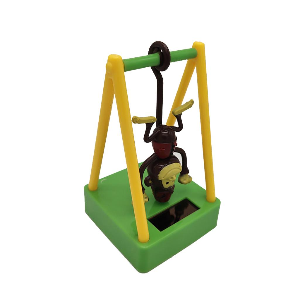 Solar Powered Swing Dancing Upside Down Monkey Toy Home