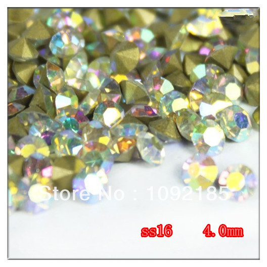 Promotion: SS16(3.8-4.0mm) Crystal AB Color,10gross/lot Pointed Back Chaton Rhinestone for Jewelry Accessory! Free Shipping ss16 3 8 4 0mm aquamarine color 10gross lot pointed back chaton rhinestone for jewelry accessory free shipping
