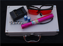 AAA 200000m 5in1 Strong Military Blue Laser Pointer Burn match candle lit cigarette Wicked Lazer Torch 20Watt+Glasses+Gift Box