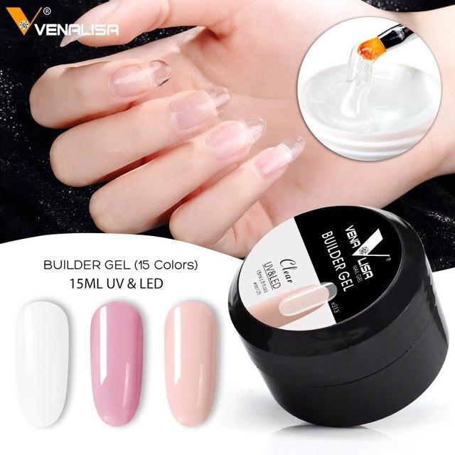 Vente chaude Venalisa nouveaux produits 12 couleurs camouflage couleur uv vernis à ongles de construction constructeur étendre nail dur gelée poly gel 4