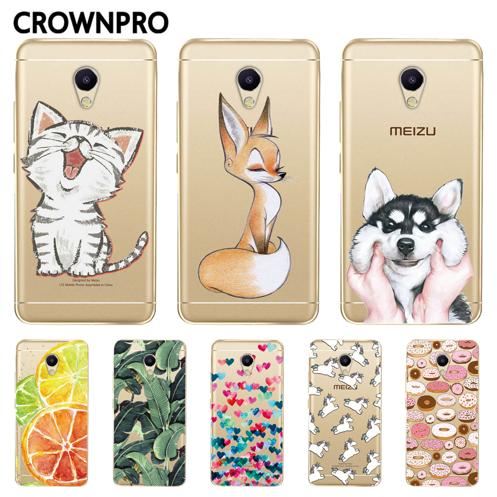 CROWNPRO Back-Cover Phone-Painting-Cases M3s-Case Silicone Meizu TPU Soft Soft
