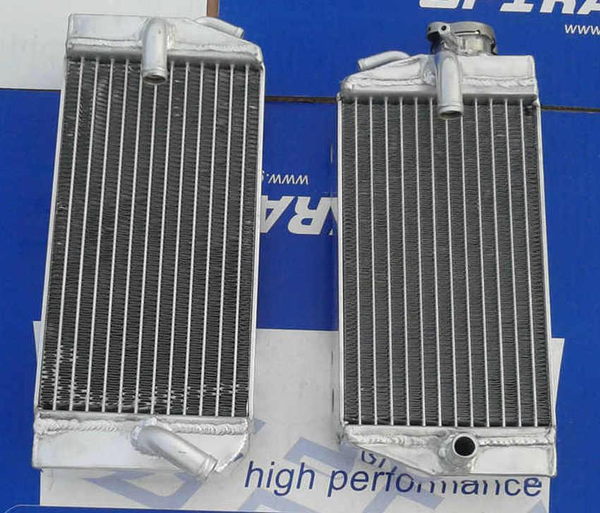 L & r radiador de liga de alumínio para honda, crf450r crf 450 r 2002 2003 2004 02 03 04