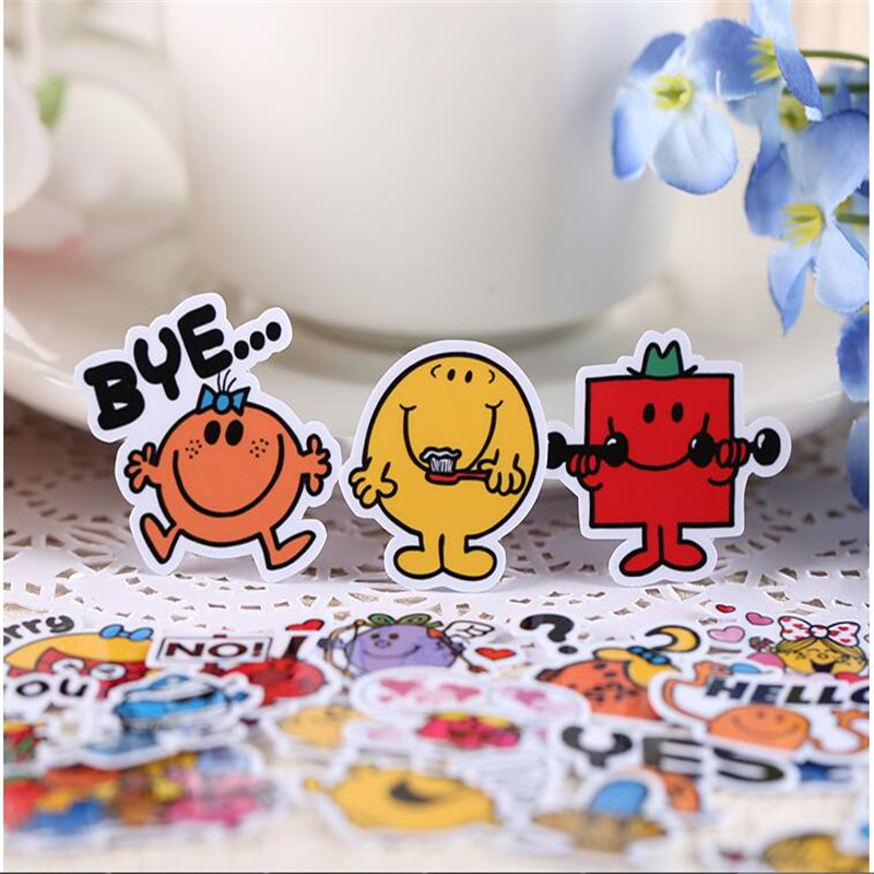 40pcs Creative Cute Self-made Mr. Qi And Miss Scrapbooking Stickers /Decorative Sticker /DIY Craft Photo Albums