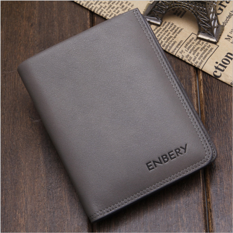 2016 New font b Men s b font Genuine Real Leather Short Cross font b Wallet