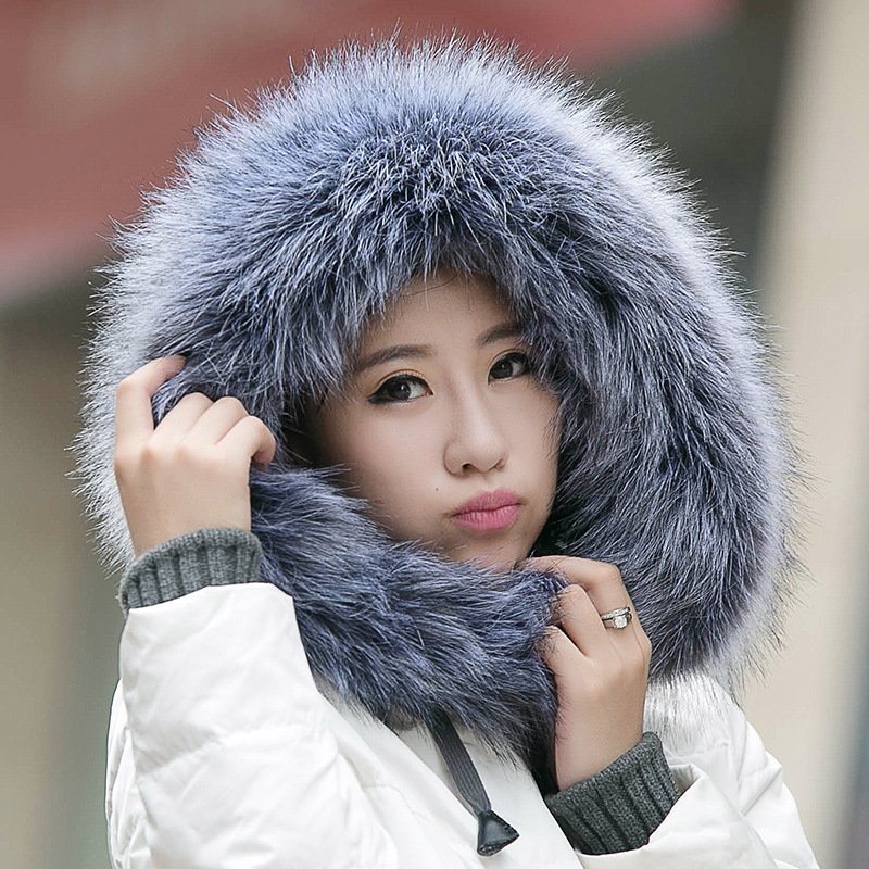 women winter faux fur   scarf   warm collar fur   scarf     wraps   Cape winter accessories ladies long warm   scarf   shawl for Christmas Gifts