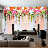 photo wallpaper quality flash silver cloth / TV sofa background bedroom garden wedding flowers large mural wallpaper