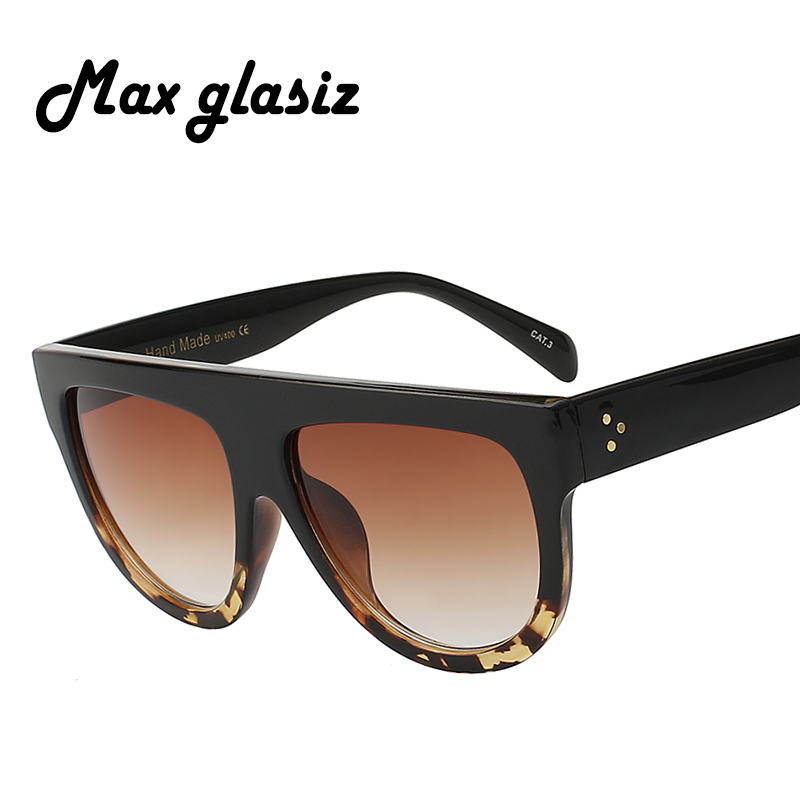 Hot selling Italy Brand Designer Fashion Women Sunglasses Oversize Female Flat Top Vintage Sun Glasses Eyewear