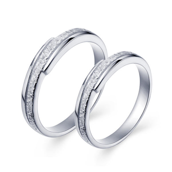 CZ Nice Couple Rings Plated Gold Jewelry Rings Romantic Lover