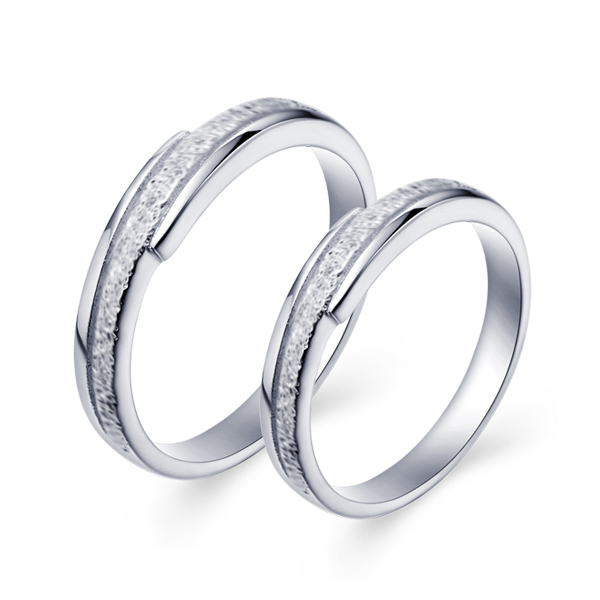 Cz Nice Couple Rings Plated Gold Jewelry Rings Romantic Lover Couple