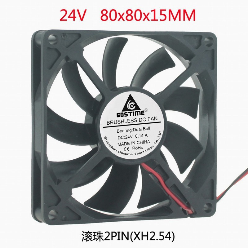 DC 24V 8CM 80MM <font><b>80X80X15</b></font> 8 cm cm Power Charger Cooling <font><b>Fan</b></font> image