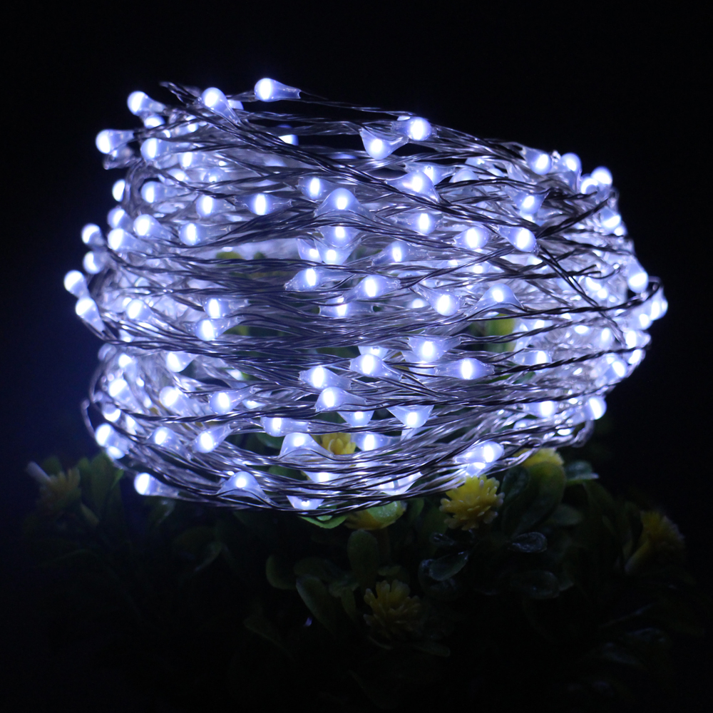 66ft 20m 200led silver wire led string lights with 12v 1a adapter led touch dimmer decoration - Christmas Light Dimmer