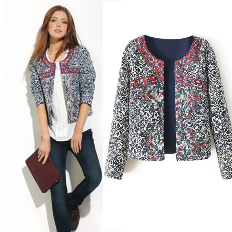 Compare Prices on New Fashion Ethnic Women Short Jacket Floral