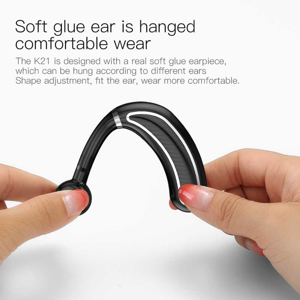 Wireless Bluetooth Headset Business Headphone Hands Free Mic Earphone Long Standby For Universal Xiaomi Samsung iPhone Phone