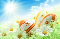 Paskalya günü renkli yumurta çim üzerinde fotoğraf prop yıkanabilir polar fotoğraf arka planında stüdyo fotoğrafçılığı arka planlar için HG-387-A