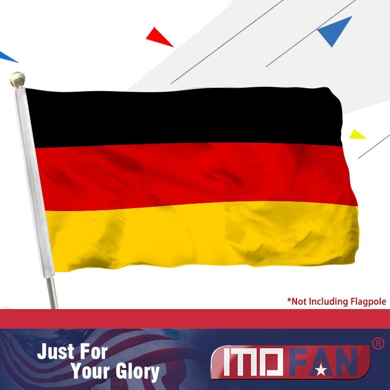 MOFAN Německá vlajka Die Deutsche flagge Země Německá vlajka Polyester 3x5 Foot
