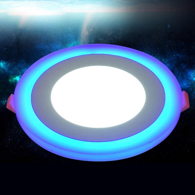 Ультра-яркий круглый светодиодный Подпушка Light 3 + 3 Вт 6 + 3 Вт 12 + 4 Вт 18 + 6 Вт Алюминий Bombillas AC 220 В <font><b>LED</b></font> Подпушка Свет Потолочные Встраиваемые пятно &#8230;