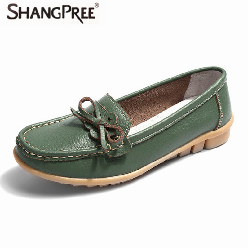 2017 New Summer Autumn Genuine Leather Women Flats Shoes Women's Casual shoes Loafers Flat Women 2017 new autumn genuine leather mobile
